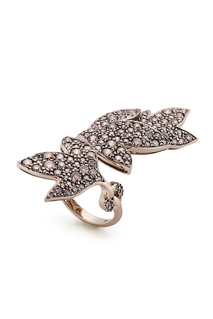 Hera Gold Diamond Leaf Ring