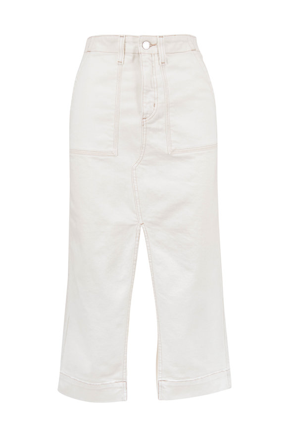 AG - Adriano Goldschmied Lana White Denim Workwear Skirt