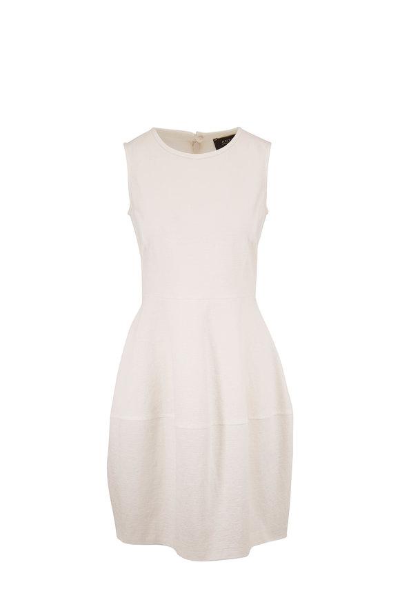 Antonelli Loren White Stretch Cotton Gauze Dress