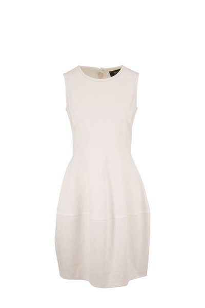 Antonelli - Loren White Stretch Cotton Gauze Dress
