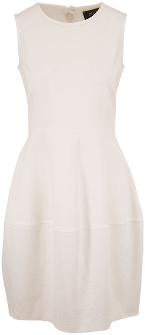 Antonelli Loren White Stretch Cotton Gauze Dress