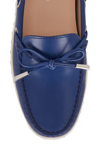 Tod's - Gomma Blue Leather Boat Shoe
