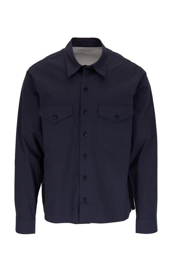 Officine Generale Martin Navy Blue Sport Shirt