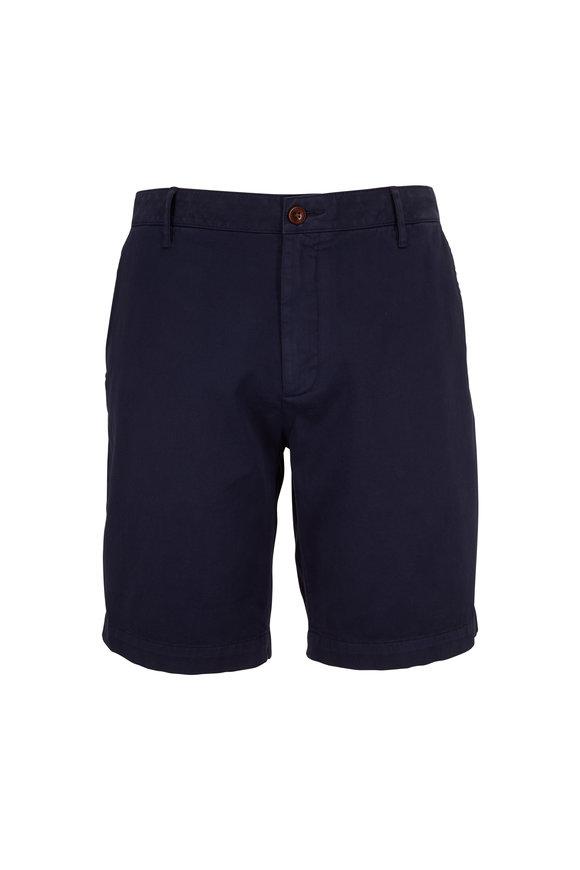 Faherty Brand Navy Blue Stretch Chino Shorts