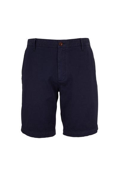 Faherty Brand - Navy Blue Stretch Chino Shorts
