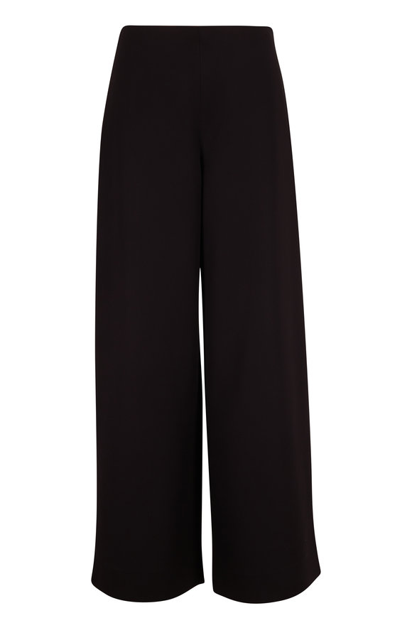 The Row Black Side Zip Wide Leg Pant