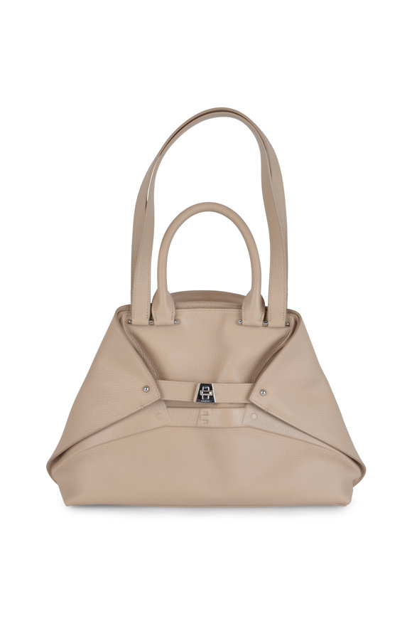 Akris Aicon Cord Leather Embossed Detail Tote