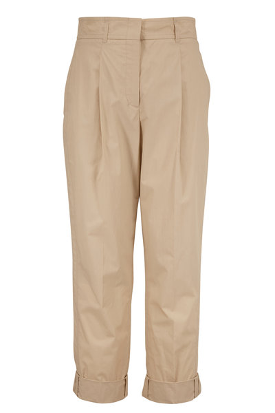 Dorothee Schumacher - Papertouch Ease Beige Cotton Trousers