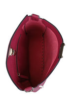 Valentino Garavani - Rockstud Raspberry Leather Small Hobo Crossbody