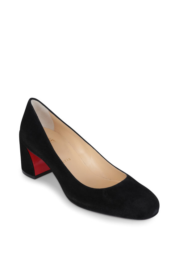 Christian Louboutin Miss Sab Black Suede Pump, 55mm