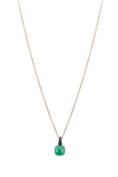 Pomellato - Gold Chrysoprase Sapphire Capri Pendant Necklace