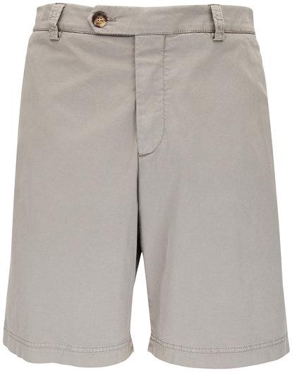 Brunello Cucinelli Stone Grey Bermuda Shorts