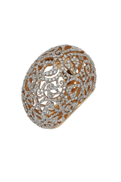 Pomellato - Arabesque Pink Gold Diamond Ring