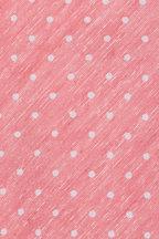 Kiton - Salmon & White Dot Silk & Linen Necktie
