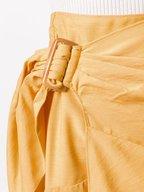 Vince - Lemon Glaze Side Buckle Drape Skirt