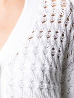 Vince - Optic White Open Cable Knit Cardigan