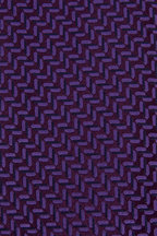Charvet - Purple Herringbone Silk Necktie
