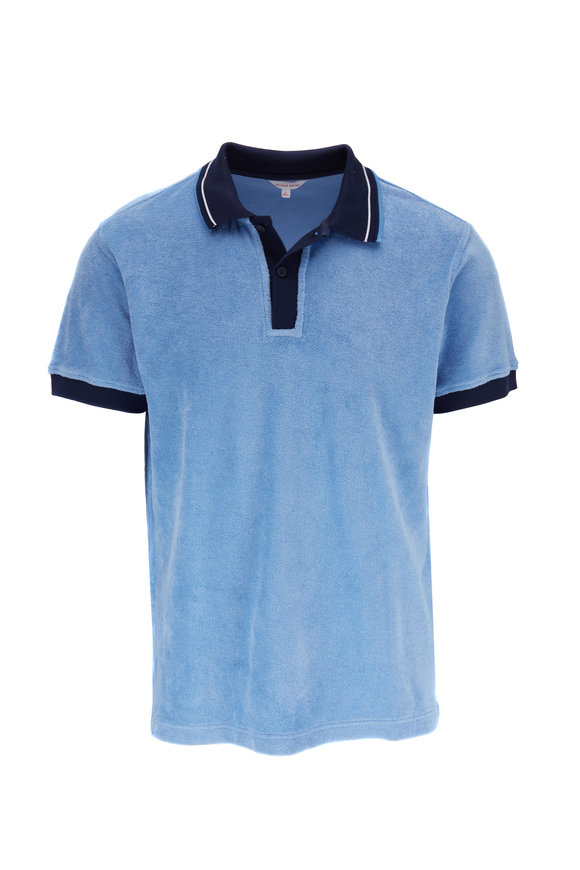 Orlebar Brown Sawyer Towelling Sea Breeze Classic Fit Polo