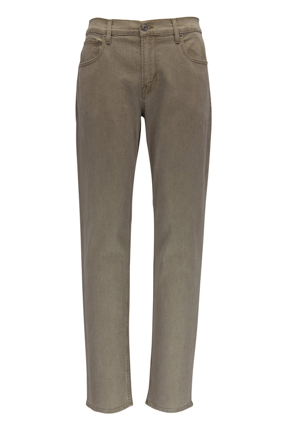 Blake Olive Green Slim Straight Jean