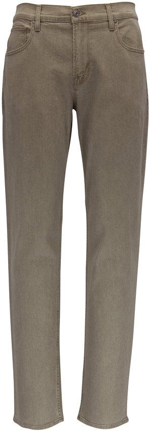 Hudson Clothing Blake Olive Green Slim Straight Jean