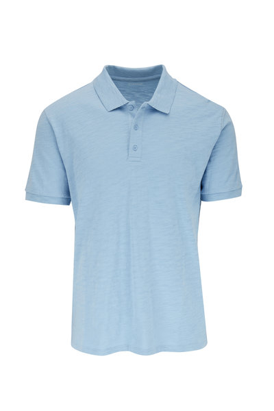 Vince - Still Water Light Blue Cotton Classic Polo