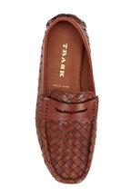 Trask - Rowan Tan Woven Leather Penny Driver
