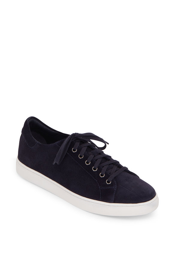 Trask Alder Navy Blue Perforated Suede Sneaker