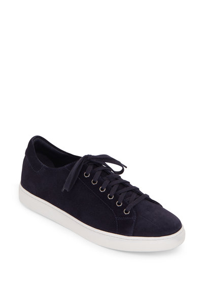 Trask - Alder Navy Blue Perforated Suede Sneaker