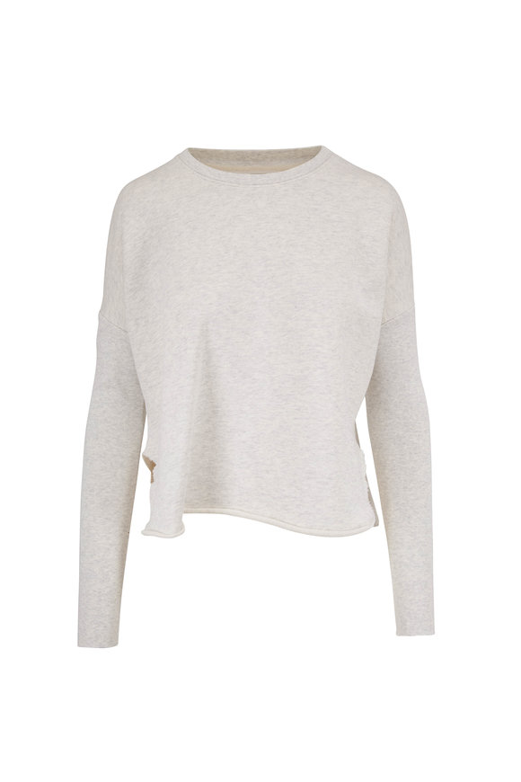 Frank & Eileen Heather White Relaxed Fit Sweatshirt