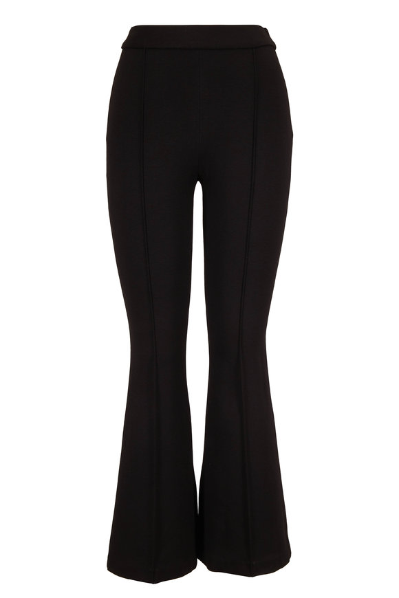 Rosetta Getty Black Interlock Jersey Pull-On Flared Pant