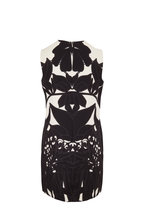Valentino - Black & Ivory Wool & Silk Sleeveless Shift Dress