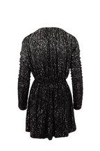 Saint Laurent - Black Dégradé Sequin Gathered Mini Dress