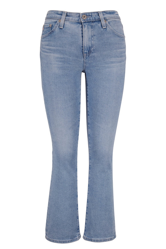 AG - Adriano Goldschmied Jodi Light Wash High-Rise Crop Jean