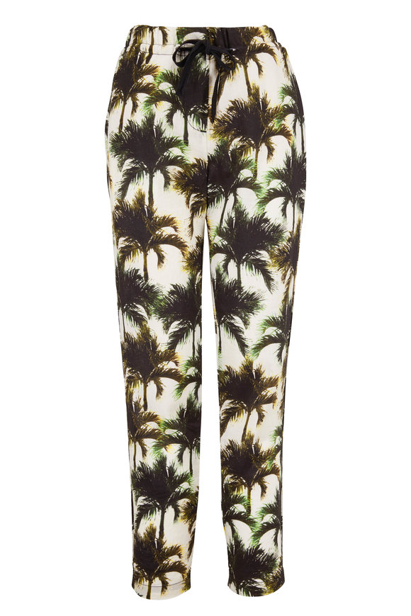 Overlover Yucca White Neon Palms Pant
