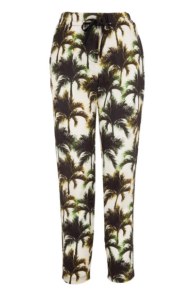 Overlover - Yucca White Neon Palms Pant