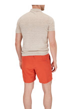 Brunello Cucinelli - Oat Linen & Cotton Short Sleeve Polo