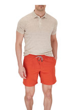 Brunello Cucinelli - Solid Orange Swim Trunks