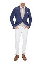 Brunello Cucinelli - Beige Contrast Collar Slim Fit Polo