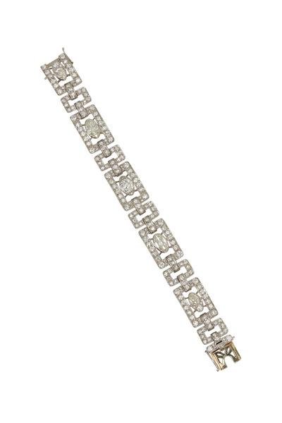 Fred Leighton - Platinum White Diamond Bracelet