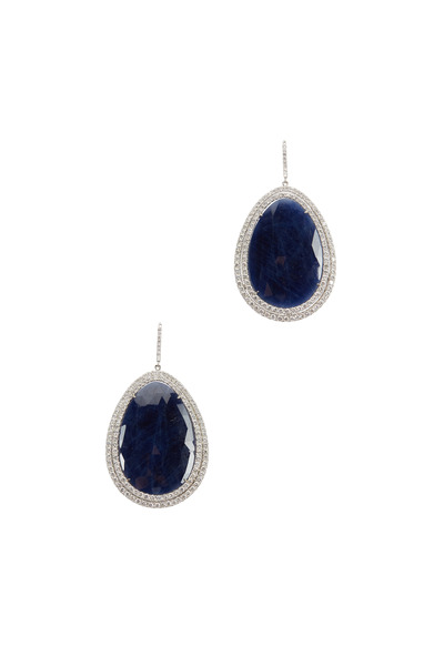 Fred Leighton - White Gold Sapphire Diamond Drop Earrings