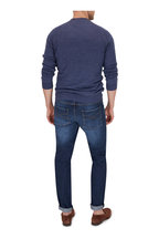 Brunello Cucinelli - Blue Linen & Cotton Raglan Sleeve Pullover