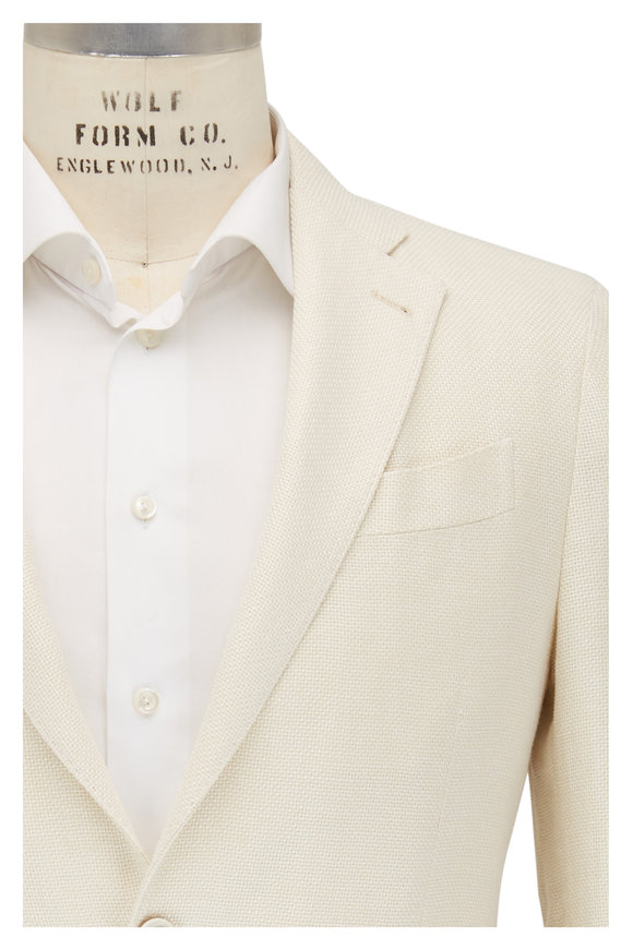 Lardini Off White Textured Woven Sportcoat