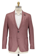 Lardini - Light Pink & Brown Plaid Silk & Cashmere Sportcoat