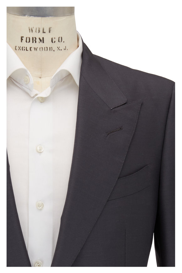 Tom Ford Slate Gray Mohair & Silk Peak Lapel Suit