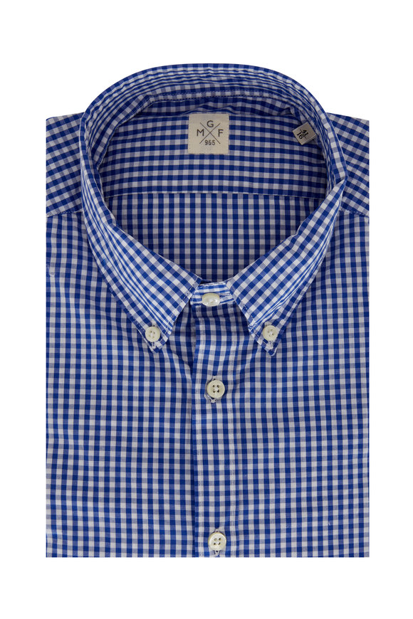 GMF Royal Blue Gingham Sport Shirt