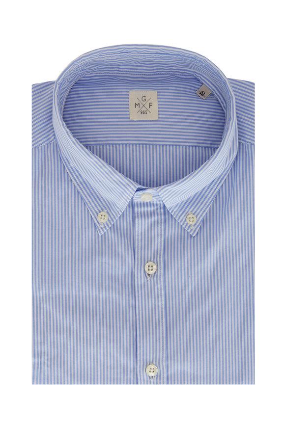 GMF Light Blue Begal Striped Sport Shirt
