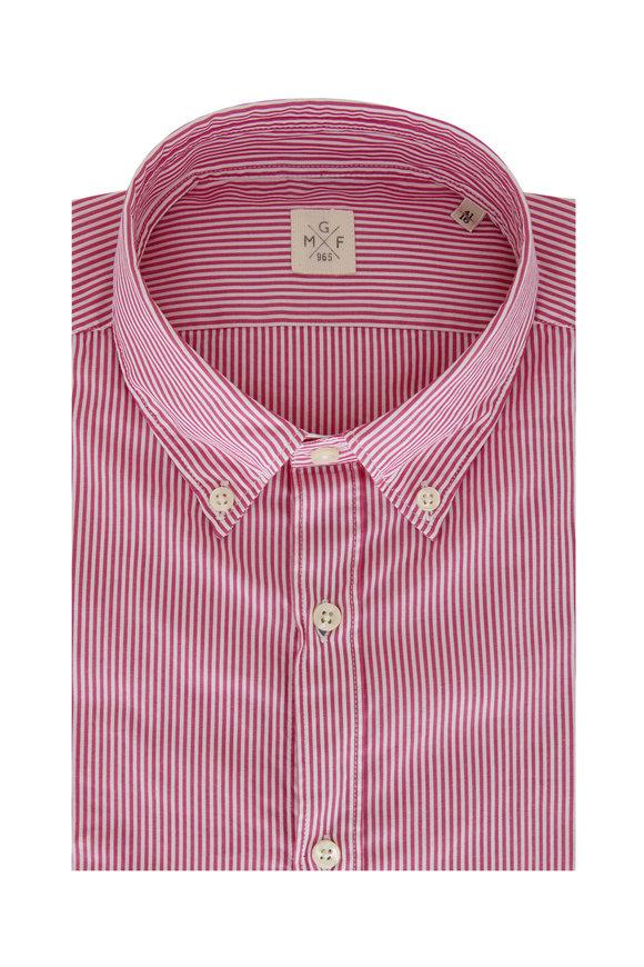GMF Violet & White Stripe Sport Shirt