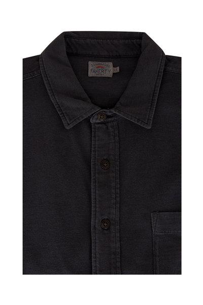 Faherty Brand - Seasons Black Short Sleeve Sport Shirt