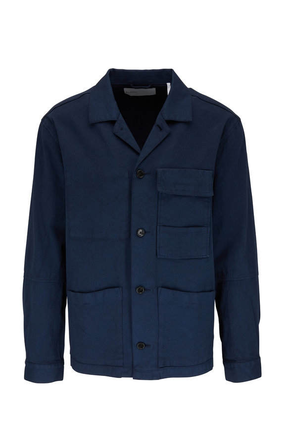 BLDWN Isaac Midnight Stretch Cotton Work Jacket