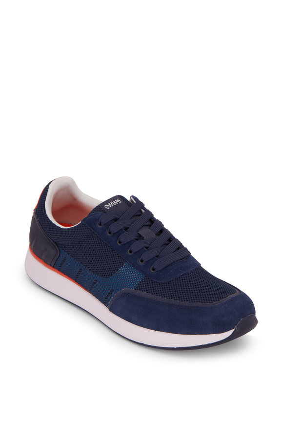 Swims Breeze Wave Athletic Navy Blue & White Sneaker